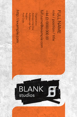 Blank Studios ~ Business Card Back