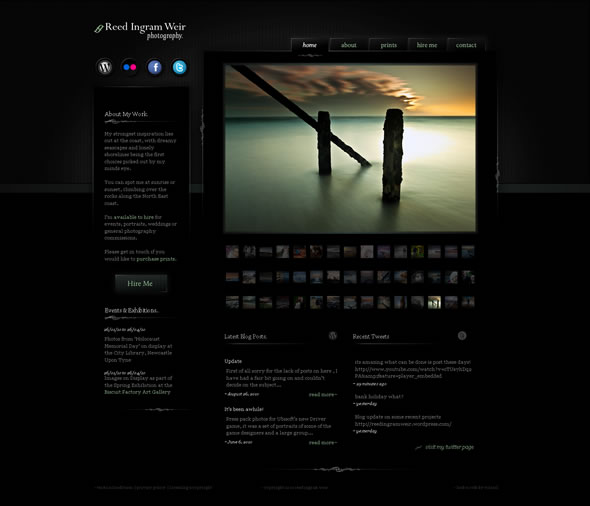 Ingram Photography ~ Homepage Layout
