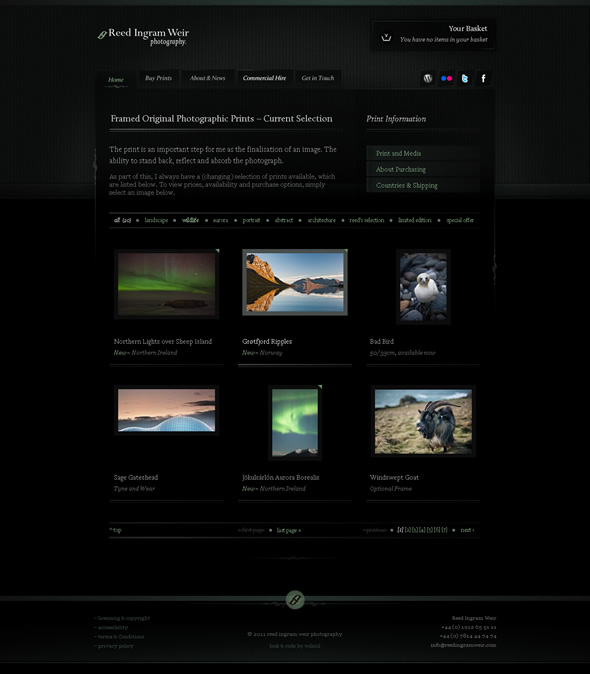 Ingram Photography Ecommerce Solution ~ Gallery Design Layout