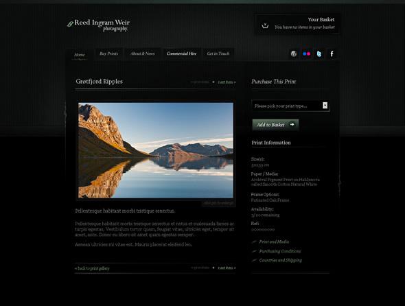 Ingram Photography Ecommerce Solution ~ Print Design Layout