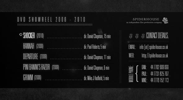 Spiderhouse Showreel ~ Motion Menu