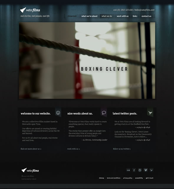 Veto Films ~ Homepage Design